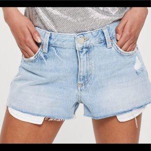TOPSHOP Denim Shorts NWT